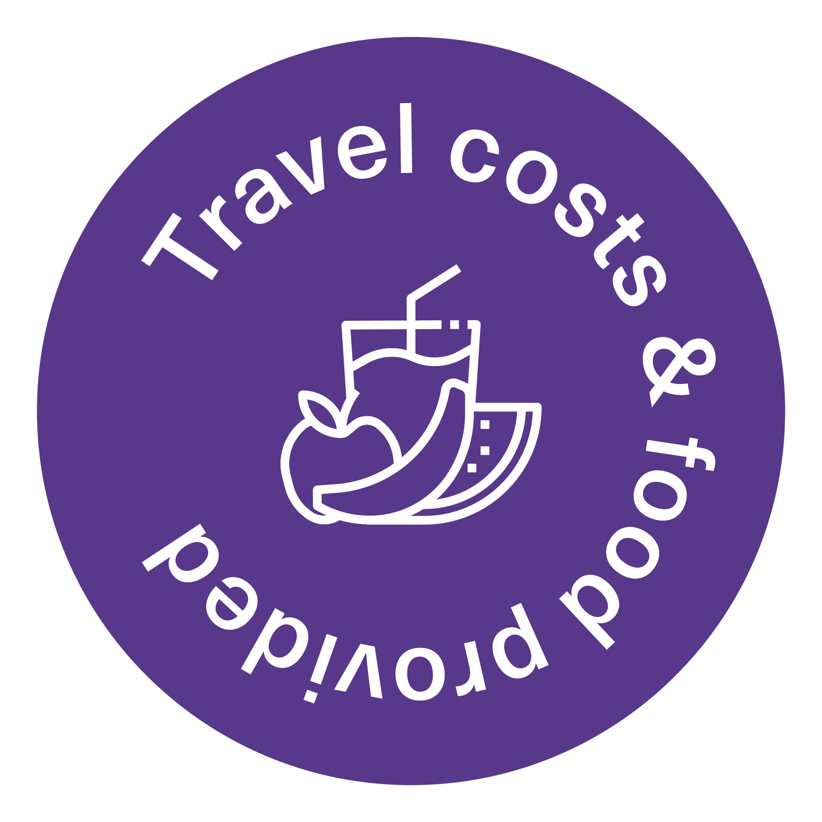 Travel costs and food sticker