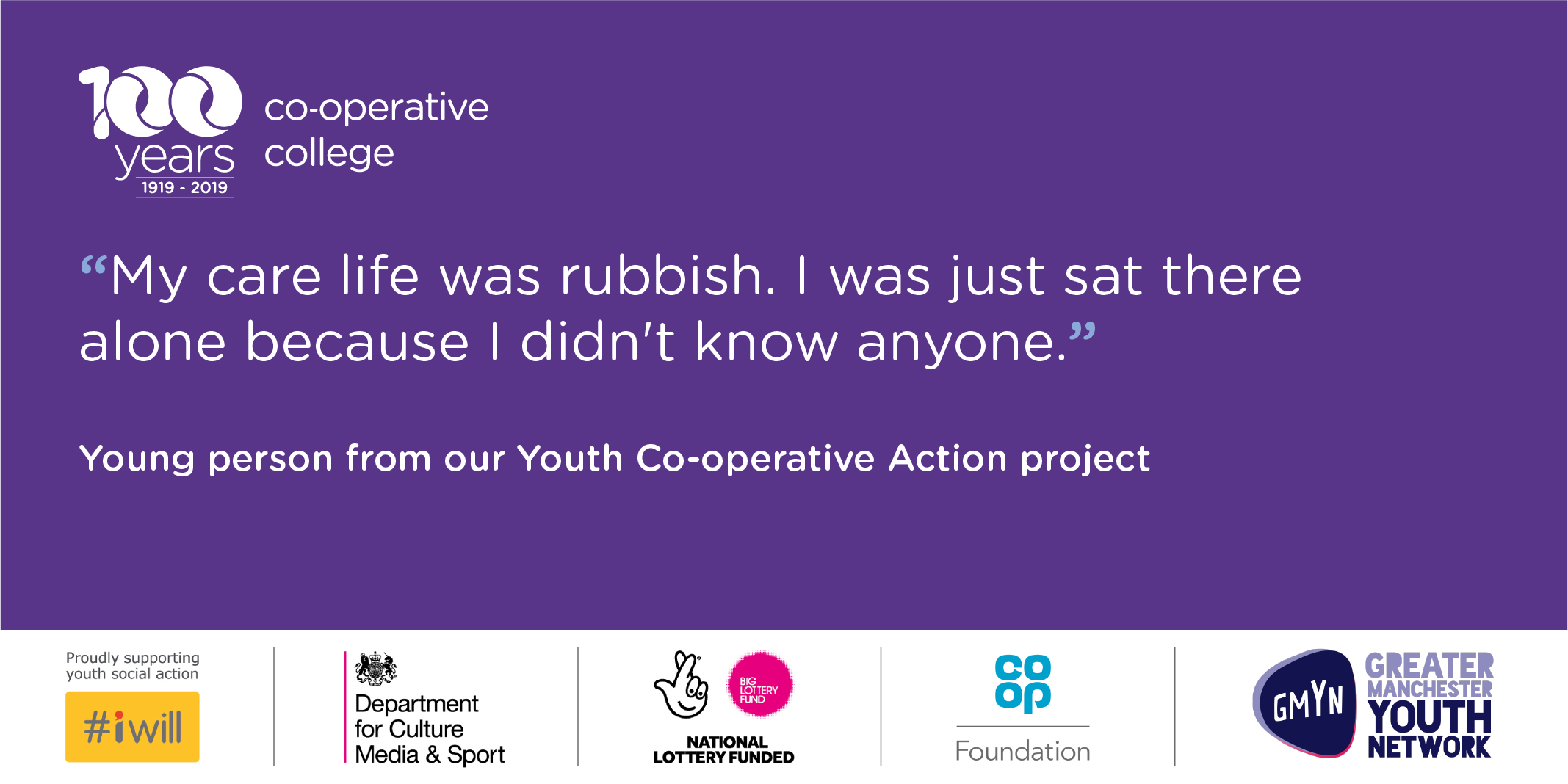 Quote from young care leaver about how alone they felt