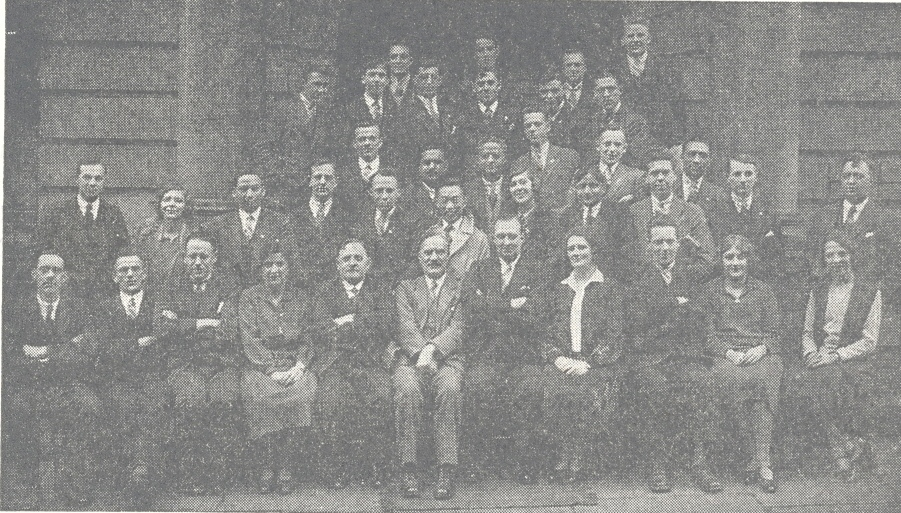 College students and staff 1930
