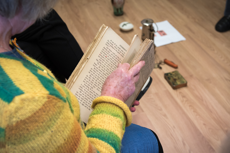 Participant reads through old text