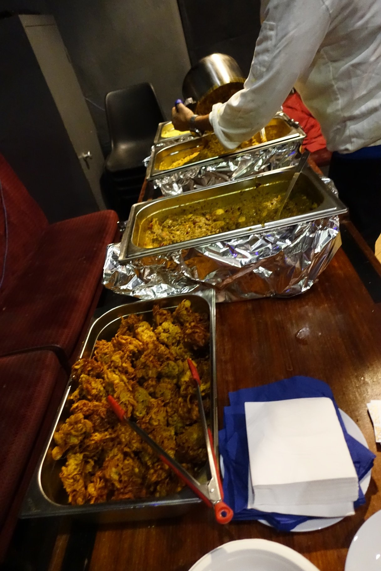 Curry served at the event