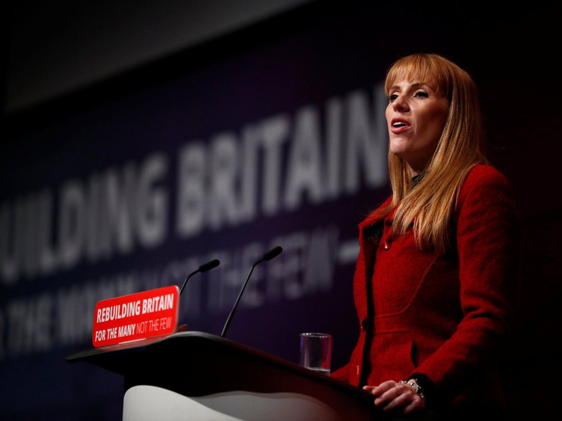 Angela Rayner speaking