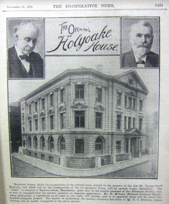 Article featuring the opening of Holyoake House