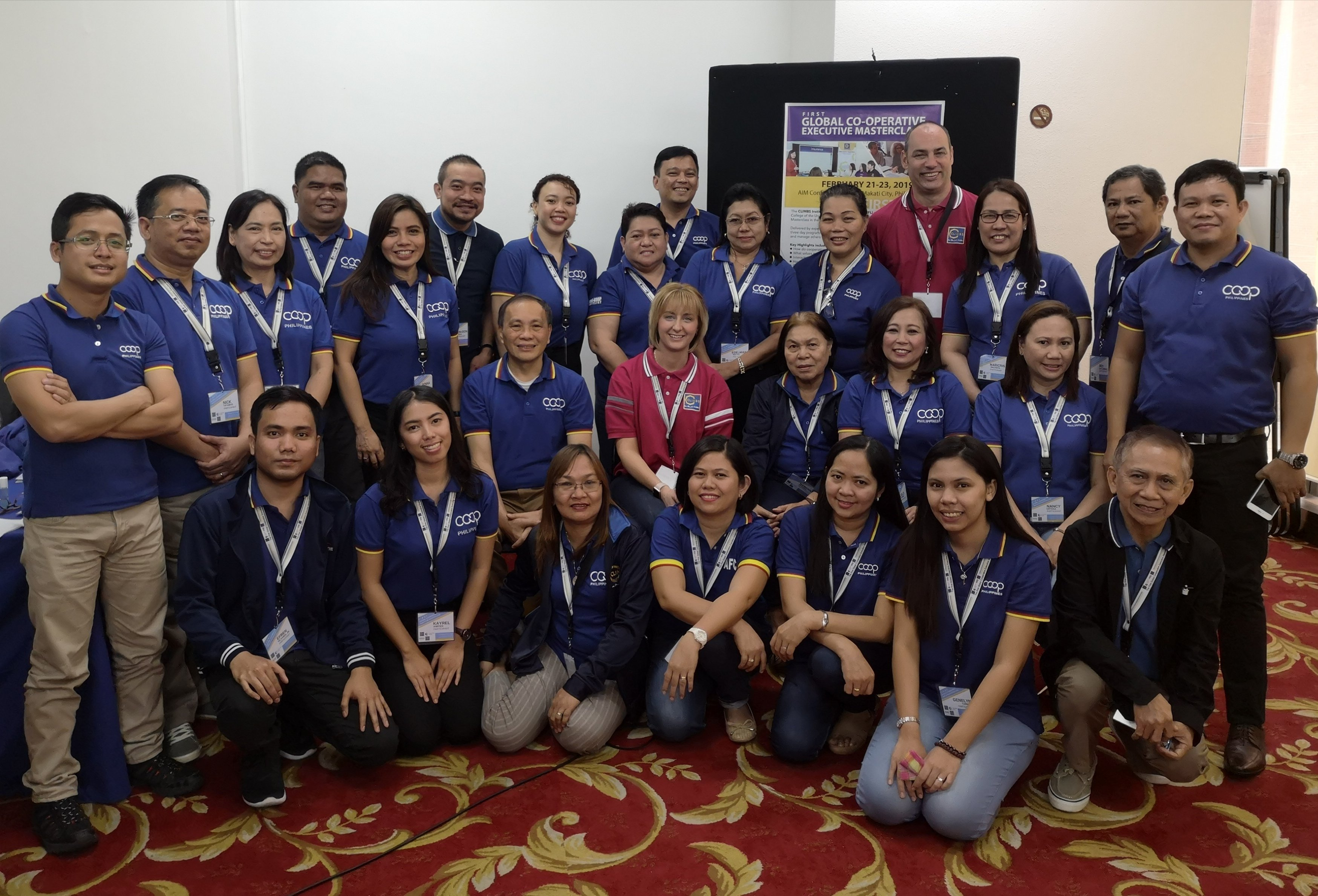 Group photos of Philippines delegates and trainers