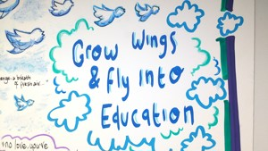 Grow wings and fly into education