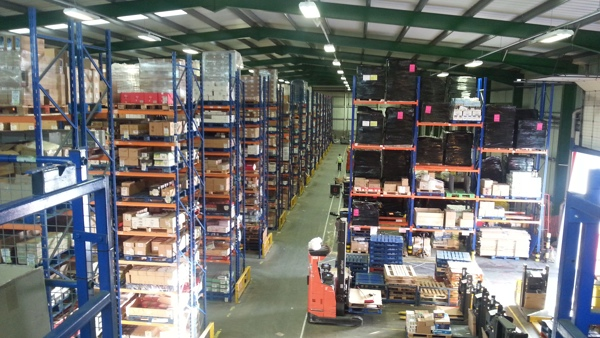 A warehouse at a wholefood distributor worker co-operative