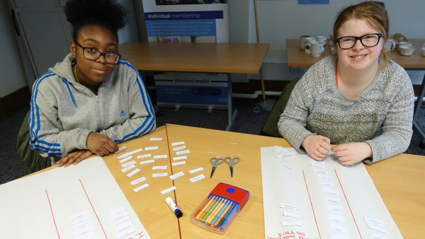 Young people taking part in Co-operative (ad)Venture