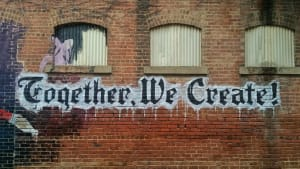 Together we create mural graffiti