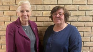 Our principal Dr Cilla Ross and CCIN Chair Cllr Sharon Taylor OBE celebrate the agreement