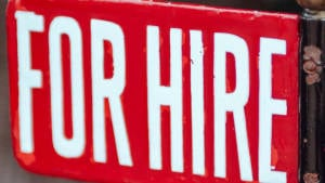 Image of For Hire sign