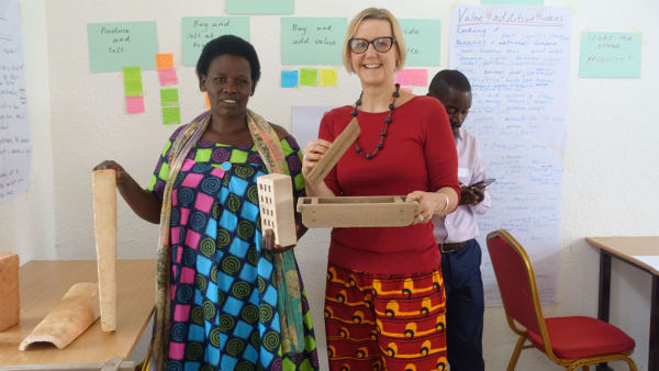 Our projects and Research Officer Amanda Benson with one of the training participants