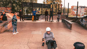 Young people at Projeks skate park