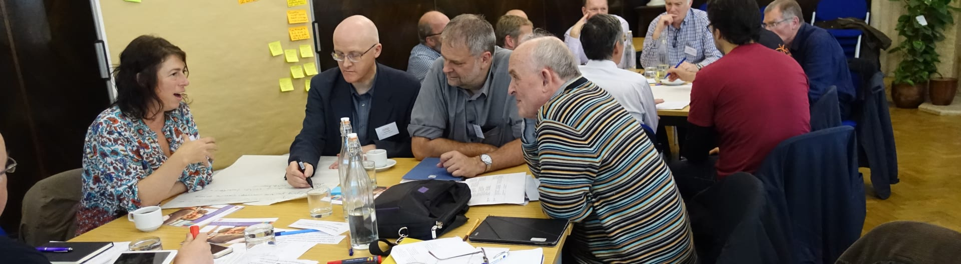 Participants in discussion during a workshop