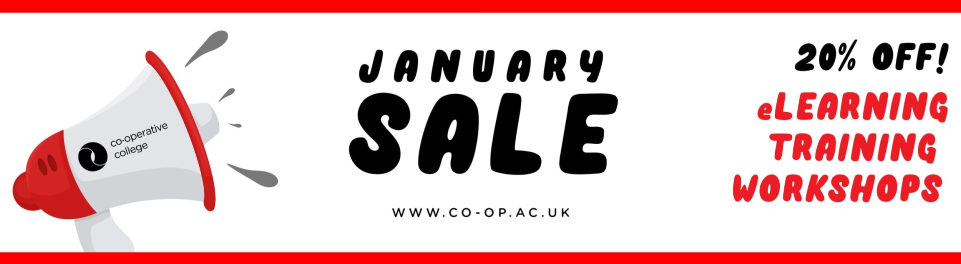 January sale graphic